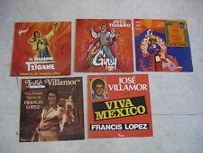 FRANCIS LOPEZ Opérettes- Lot de 5 LP dont 1 signé par Youri
