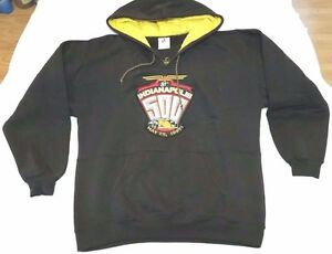 1997 81st Indianapolis 500 hooded sweatshirt sz L Midwest Embroidery NASCAR