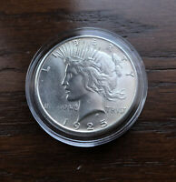 1925-S  SILVER PEACE DOLLAR IN CHOICE  BU CONDITION!!  LOW MINTAGE!