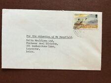 b1u ephemera stamped franked envelope isle of man 12p