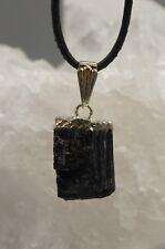Negro Turmalina Turmalina Negra Colgante Cristal con Ojal Galvanizada c8
