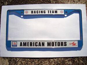 AMC American Motors Racing Team License Plate Frame - AMX Javelin Hurst Scambler