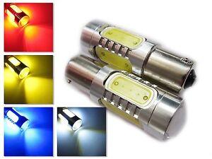 UK x2 BA15S 1156 P21W 7w Car Tail Brake Signal Indicator LED bulb light lamp 12v