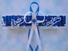 LA Dodgers Wedding Garter Toss Prom  Baseball Double Heart Charm