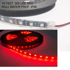 red Heavy duty 5M Waterproof IP68 300 LED Strip Light 5050 SMD Roll 12VDC