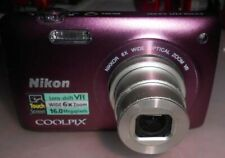 Nikon Coolpix S4300 16MP wide 6X Zoom 4.6-27.6mm 36019100