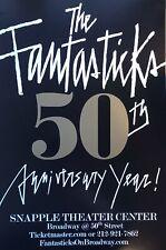The Fantasticks 50th Anniversary Poster, Designed By Harvey Schmidt