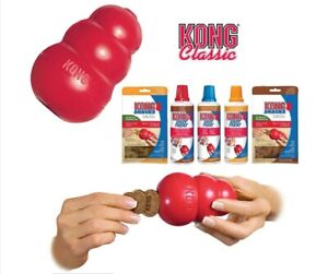 KONG®Classic Dog Toy - Robust Red Rubber Dog Teething Toy XS S M L XL XXL+treats