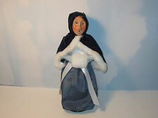 Byers Choice 1995 Spectacular Victorian Woman with Fur Trimmed Cape and Hood