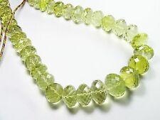 "LEMON QUARTZ  16"" ADJUSTABLE NECKLACE 770Cts. BIG SIZE RONDELLE BEADS 11-21MM"