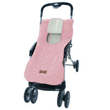 Stroller Blanket or Stroller Cover & Baby Bunting Bag Deluxe Pink Embroidered