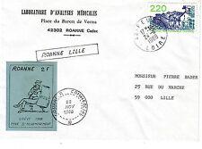 TIMBRES DE  GREVE ROANNE 1988 SUR LETTRE POUR LA FRANCE
