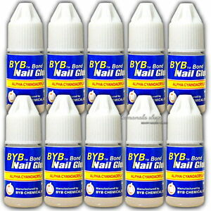 10 Bottles 3g Fake Nail Art Glue Strong Adhesive False Tips Manicure Decor Tool