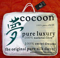 Cocoon Pure Silk Duvet. Christmas 2019 Sale! Single All Year Weight Doona.