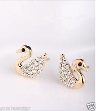 Fashion Luxuriant Crystal Swan Earrings
