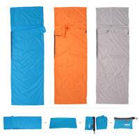 Portable Lightweight Fleece Sleeping Bag Liner Blanket for Adult Camping Z4Q8