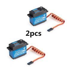 2pcs Power HD Lw-20mg 20kg Waterproof Servo W/gear for RC 1/10 1/8 Car I9f9