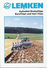 Lemken Aufsattel-Drehpflug EuroTitan Prospekt 10/01