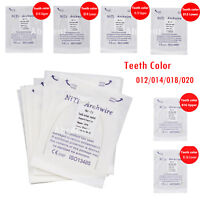 Dental Orthodontic Teeth white color Niti Round Arch Wire Natural/Ovoid/Square