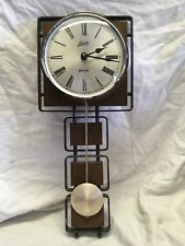 Amazing Vintage Retro Schatz Elexacta German Wall Clock Geometric Not Starburst