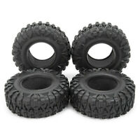 4PCS 120MM 2.2INCH Rubber Rocks Tyres Wheel Tires For 1:10 RC Rock Crawler Axial