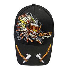 NATIVE SPIRIT BLACK EMBOSSED HAT CAP .. HIGH QUALITY .. NEW
