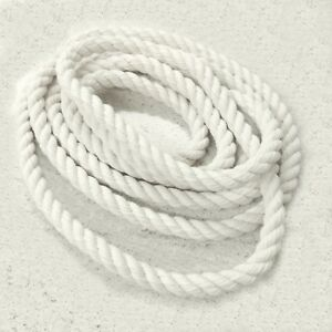 14 mm thick Premium Quality Natural Soft Cotton Rope Cord Twisted Twine Macrame