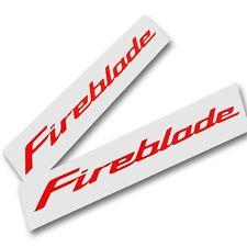 1000RR CBR `FIREBLADE` moto custom autocollant graphique rouge x 2