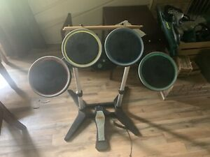 Rock Band 4 Wireless Xbox One Drum Set with Drum Sticks And Kick Pedal Tested