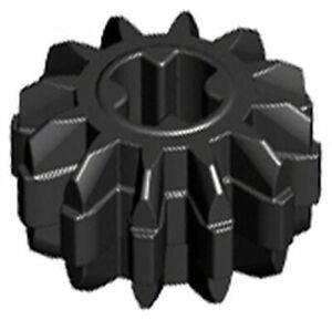 LEGO 6x Technic Ingranaggio 12 Denti NERO 32270