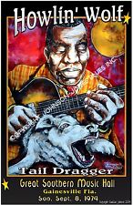 Poster of Howlin' Wolf Tail Dragger by Cadillac Johnson