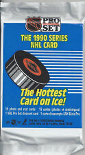 12 unopened packs NHL Pro Set hockey cards, 1990 Series 1