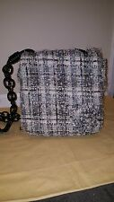 AUTHENTIC CHANEL TWEED CAMELIA GRAY SHOULDER BAG BRAND NEW