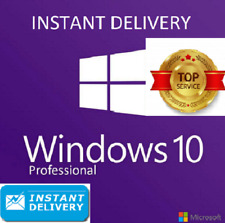 Microsoft Windows 10 Pro Professional 32/64bit Genuine License Key Instant 41S🚤