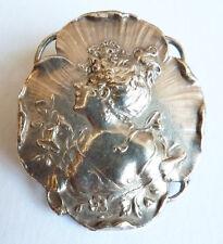 Médaillon Broche clip metal bijou ART NOUVEAU Modern Style vers 1900 brooch