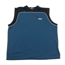 Fila Sleeveless Tee Adult Extra Large Xl Basketball Jersey Embroidered Spell Out