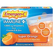 Vitamin C & ZINC Emergen-C Immune 1000mg. Orange-3O Count. FREE SHIPPING 2-DAY