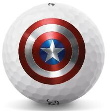3 Dozen (Captain America Logo) Titleist Pro V1x 2018 Mint Perfect Golf Balls