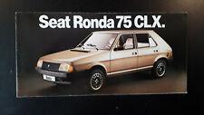 Seat Ronda 75 CLX Brochure 1982