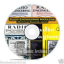 Radio Engineering, 135 Vintage Old Time Radio Magazine Collection PDF CD B80