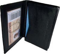 Leather Business & Credit Card Holder; Fifty Card Case; ID window