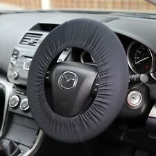 BLACK DISKLOK SECURITY CAR STEERING WHEEL SOFT STRETCH COVER - FITS ALL SIZES