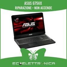 ASUS G75VX RIPARAZIONE  - NON ACCENDE - PROBLEMI DI BIOS - COMPONENTI IN CORTO