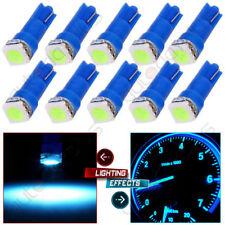 10x Ice Blue T5 LED Car Wedge Base Gauge Cluster Instrument Dashboard Light 12V