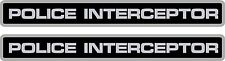 "(2 Pack!) Police Interceptor Decals Stickers Crown Vic 8"" x 1"""