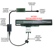 External Laptop Battery Charger for MSI A6400 CX640 CR640 Series A32-A15 A42-A15
