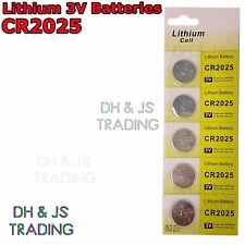 5x CR2025 3V Lithium Coin Battery Watch Car Alarm Key Fob Toy Camera CR 2025