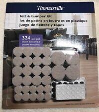 NEW Thomasville Adhesive Felt & Bumper Kit - 324 Value Pack Large&Small Felt Pad
