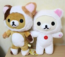 New Rilakkuma Korilakkuma Motto Nonbiri Neko Big Plush Mascot San-X Japan Cat