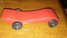 VINTAGE PINEWOOD DERBY CAR BOY SCOUTS WOOD RED CAR